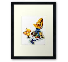 Vivi and the Chocobo Framed Print
