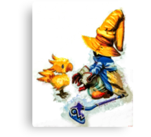 Vivi and the Chocobo Canvas Print