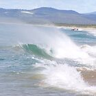 Surf & Spray at Red Rock beach, North coast N.S.W. Australia. by Rita Blom