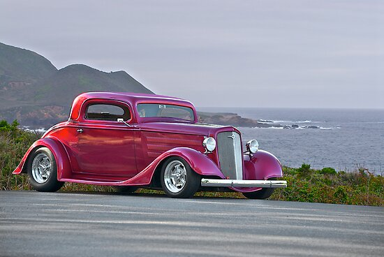 1934 chevrolet 39 three window 39 coupe posters by for 1934 chevrolet 3 window coupe