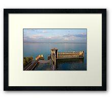 Lake Garda Panoramic Sunset View Framed Print