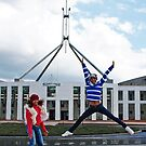 Young Thai Dancers - Parliament House, Canberra by Bev Pascoe