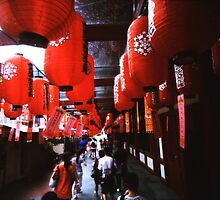 Red Lanterns - Lomo by Yao Liang Chua