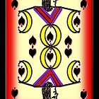 Jack of Spades, Iphone case by Carolyn Clark