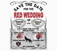 RED WEDDING INVITATION by superedu