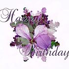Happy Birthday Greeting Card - Purple Luneria by MotherNature