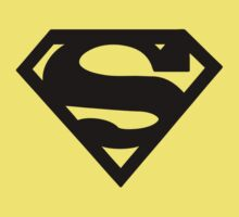 Superman - Logo (Black) by Bastien13
