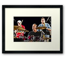 Junie Chavez on the Drums for Windy City Framed Print