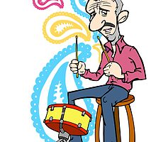 Ringo playing the Drum by KitsonFella