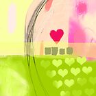 Corner of pink heart by CatchyLittleArt