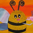 Bee Drinking Tea- Rhymes made from recycled math books by cathyjacobs