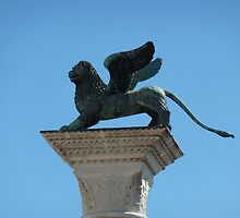 Lion atop pillar by Fay  Hughes