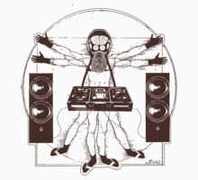 VITRUVIAN ALIEN DJ T-SHIRT #02 by MUMtees