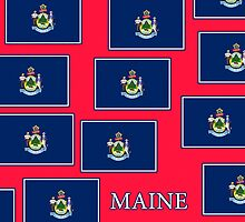 Smartphone Case - State Flag of Maine - Horizontal III by Mark Podger