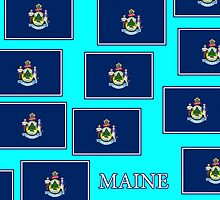 Smartphone Case - State Flag of Maine - Horizontal IV by Mark Podger
