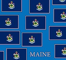 Smartphone Case - State Flag of Maine - Horizontal V by Mark Podger