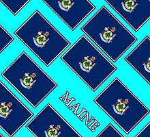 Smartphone Case - State Flag of Maine - Diagonal II by Mark Podger