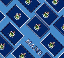 Smartphone Case - State Flag of Maine - Diagonal III by Mark Podger