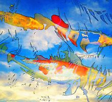 Life Is But A Dream - Koi Fish Art by Sharon Cummings