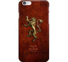 Game Of Thrones Lannister Hear Me Roar  iPhone Case/Skin