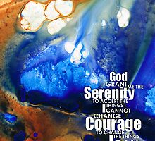 Serenity Prayer 4 - By Sharon Cummings by Sharon Cummings
