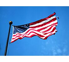 Old Glory - American Flag by Sharon Cummings Photographic Print