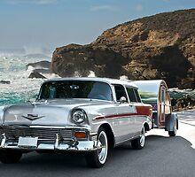 1956 Chevrolet Nomad - Summer Vacation by DaveKoontz
