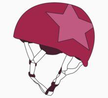 Roller Derby Jammer Helmet in Magenta by Katie Tandlmayer
