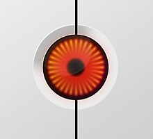 Portal Turret Eye iPhone/iPod Case by Tyler Coare