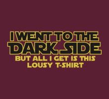 Went to dark side - Lousy T-Shirt (yellow black) by hardwear