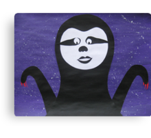 Goth Sloth- - collage with math books- rhymes for kids Canvas Print