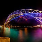 Vivid Bridge panorama by Erik Schlogl