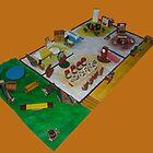 Lunch box dolls house by David Fraser