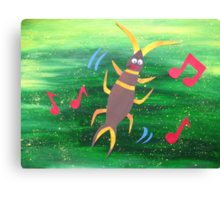 Earwig does a Jig- Animal Rhymes - created from recycled math books Canvas Print