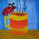 Lady Bug on a Mug - Animal Rhymes - created from recycled math books by cathyjacobs