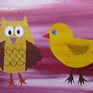 Owl with a Fowl - Animal Rhymes - created from recycled math books by cathyjacobs