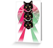 Hippie Cats Greeting Card