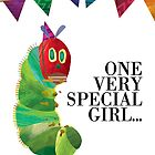 Girls' Caterpillar Birthday Card by Digital Art with a Heart