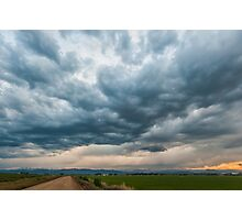 Storm Clouds on The Road Home Photographic Print