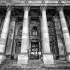 Parliament of South Australia pillars. by Nick Egglington