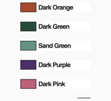 Brick Sorting Labels: Dark Orange, Dark Green, Sand Green, Dark Purple, Dark Pink by 9thDesignRgmt