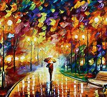 Night - Oil painting on Canvas By Leonid Afremov by Leonid  Afremov