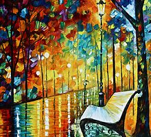 She Left - Oil painting on Canvas By Leonid Afremov by Leonid  Afremov