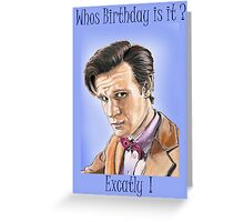 Doctor who birthday card Greeting Card