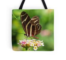 Zebra Longwing in profile Tote Bag