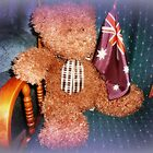 Oscar Bear & his Flag by EdsMum