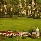 Bouchoux village in Haut Jura Natural Park by Patrick Morand