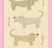 Happy 3rd Birthday Dachshunds - pink by Micklyn2