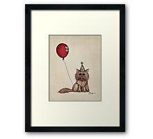 Kitty Celebration Framed Print