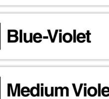 Brick Sorting Labels: Very Light Gray, Sky Blue, Blue-Violet, Medium Violet, Sand Purple Sticker
